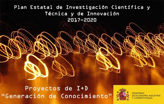 Convocatoria de Proyectos de I+D de Generación de Conocimiento 2018